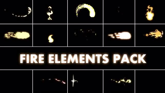 Fire Elements Pack: Stock Motion Graphics