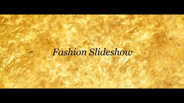 SlideShow - Brush Effects - Gold Fashion: After Effects Templates