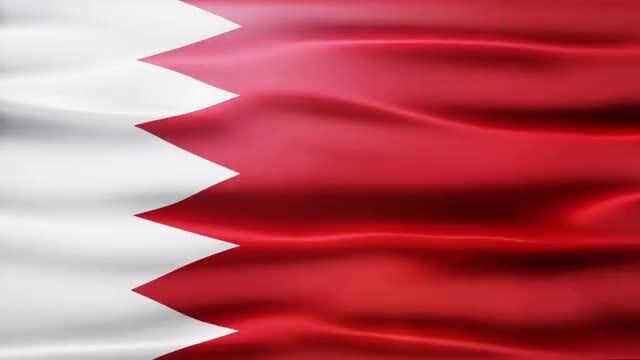 Bahrain Flag: Stock Motion Graphics