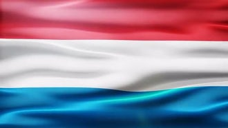 Luxembourg Flag: Motion Graphics
