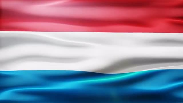 Luxembourg Flag: Stock Motion Graphics