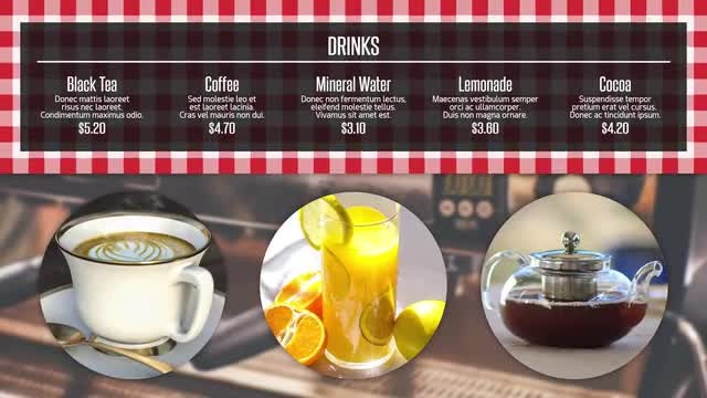 Restaurant Menu Presentation Premiere Pro Templates