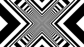 Black and White Geometric Background: Motion Graphics