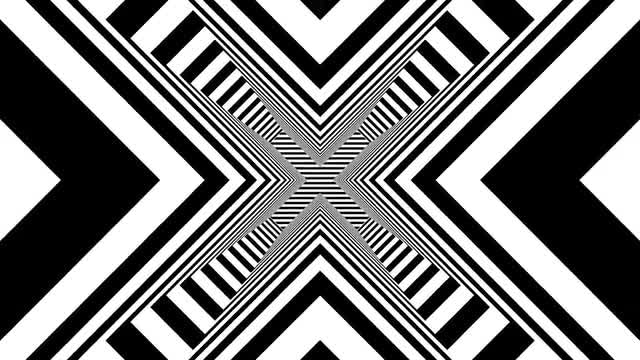 Black and White Geometric Background: Stock Motion Graphics
