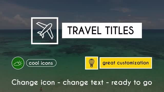 Travel titles: Motion Graphics Templates