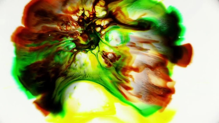 Abstract Colorful Ink Blast: Stock Video