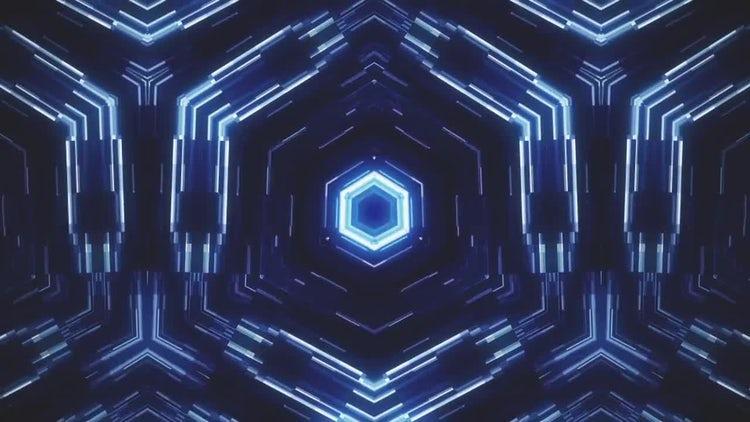 Glowing Hexagon Loop: Motion Graphics