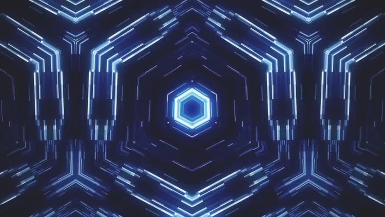 Glowing Hexagon Loop: Stock Motion Graphics
