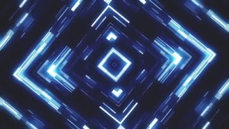 Glowing KaleidoSquares Abstract Vj Loop: Motion Graphics