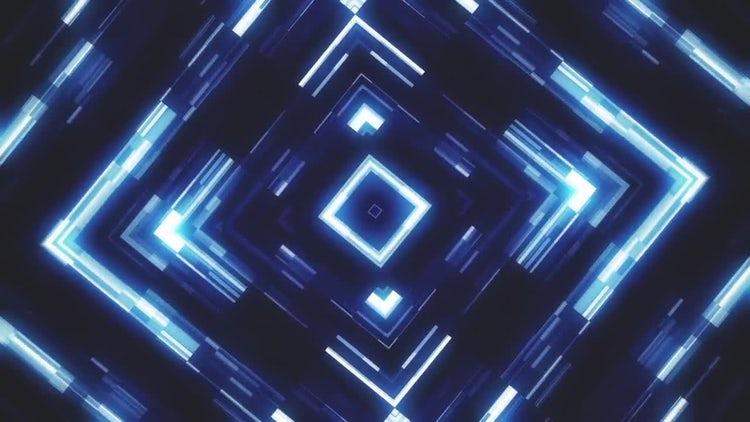 Glowing KaleidoSquares Abstract Vj Loop: Stock Motion Graphics