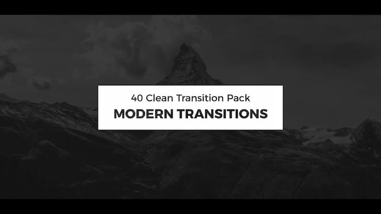 Modern Transitions: Premiere Pro Templates