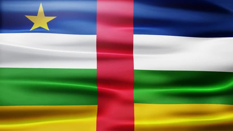 Central Africa Republic Flag: Motion Graphics