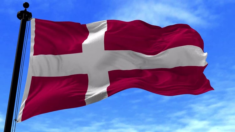 Denmark Flag Animation: Motion Graphics