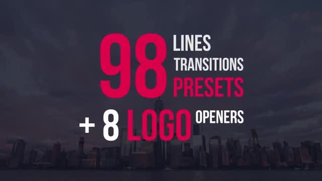 98 Lines Transitions Presets: Premiere Pro Presets