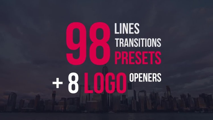 98 Lines Transitions Presets: Premiere Pro Templates