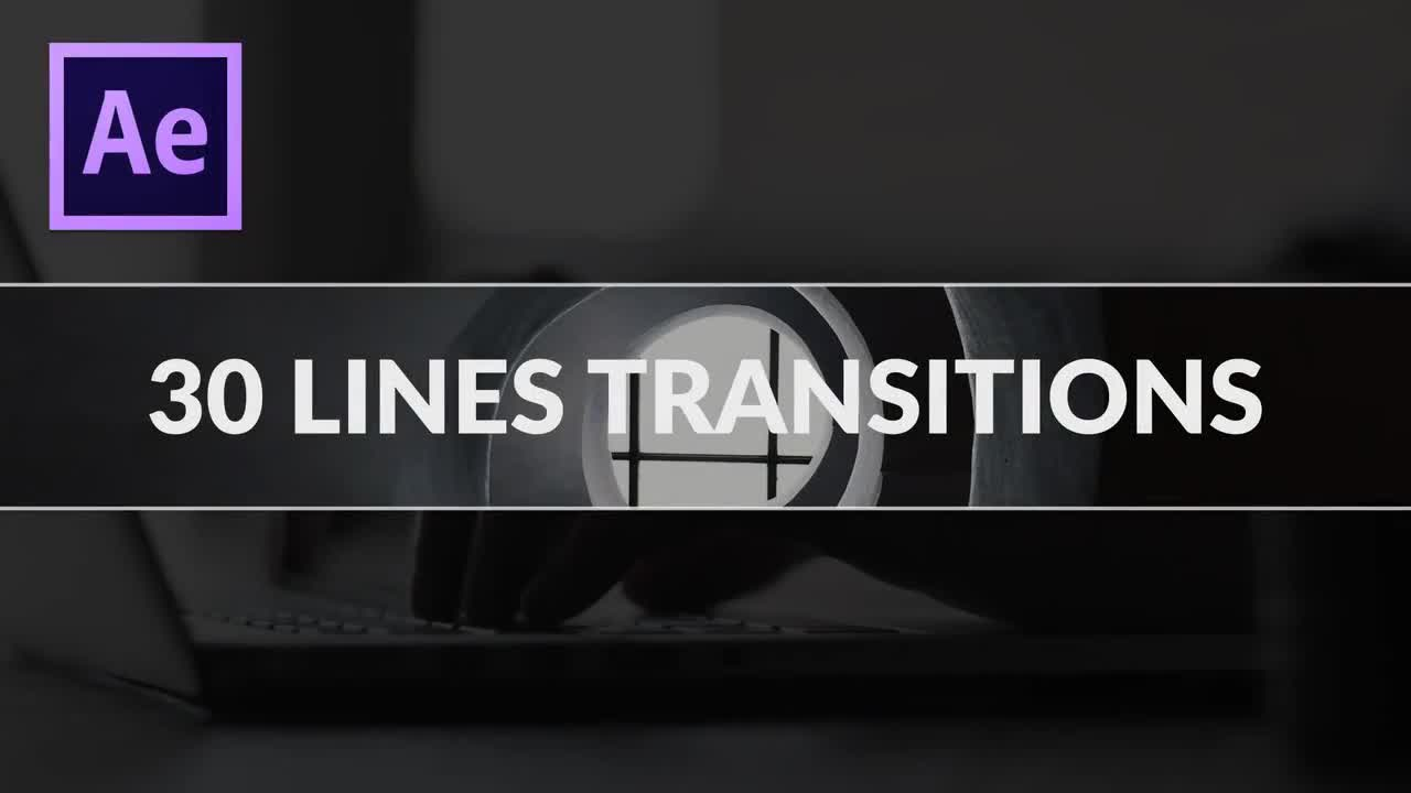 30 Free Line Transitions - After Effects Templates | Motion Array