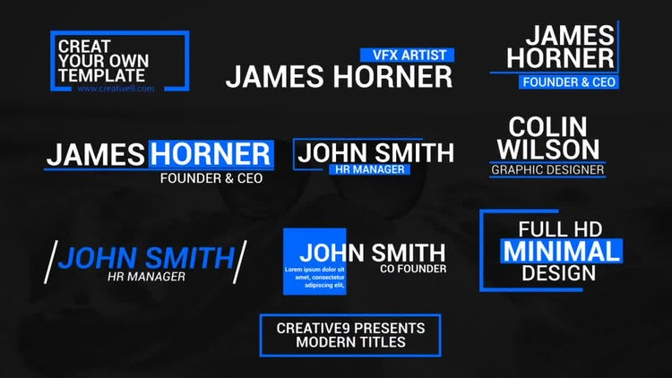 Modern Corporate Lower Thirds: After Effects Templates