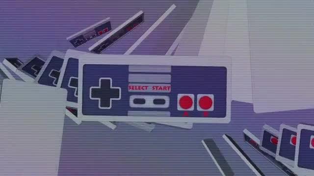 Retro Gamepad Loop: Stock Motion Graphics