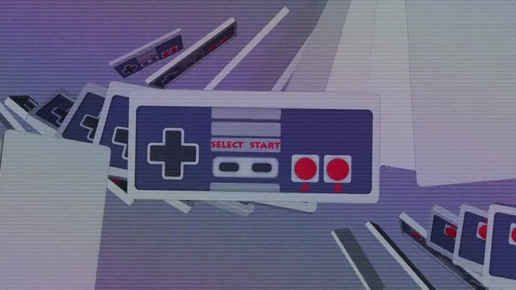 Retro Gamepad Loop: Motion Graphics
