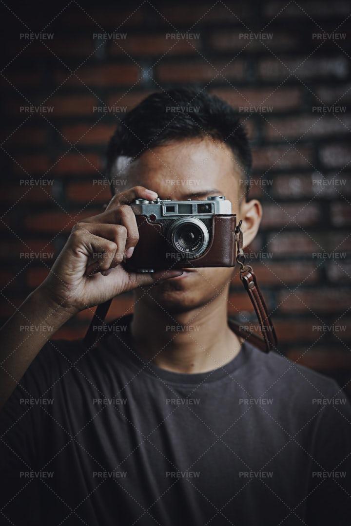 Photos On Vintage Camera: Stock Photos