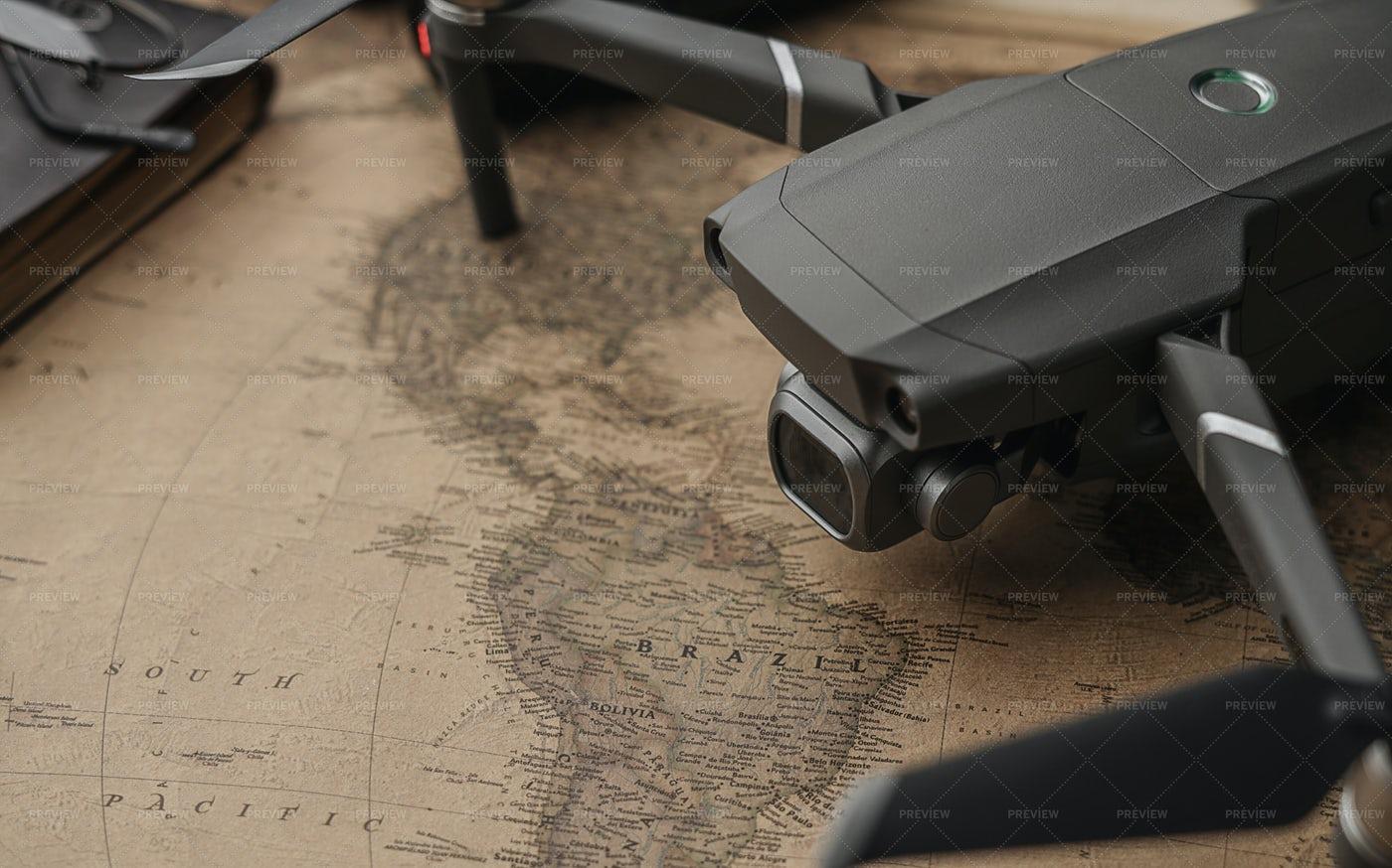 Travel With A Drone Concept: Stock Photos
