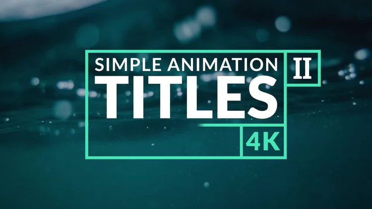 Animation Titles II: After Effects Templates