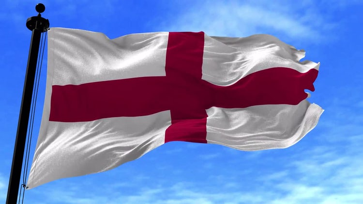 England Flag Animation: Stock Motion Graphics