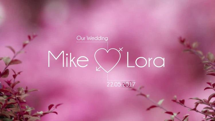 Modern Wedding Titles: After Effects Templates