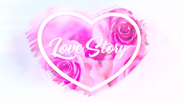 SlideShow - Brush Effects - Love Story: Premiere Pro Templates