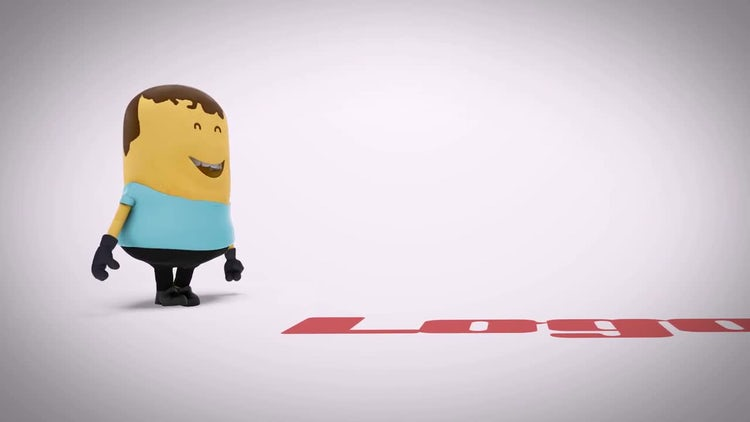 3D Cartoon Character Logo: After Effects Templates