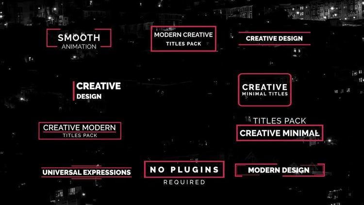 Creative Titles V.2: After Effects Templates