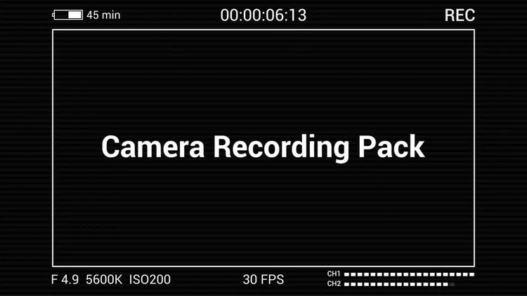 Camera Recording Pack: Motion Graphics Templates