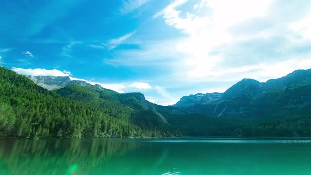 Lake and Mountains Landscape: Stock Video