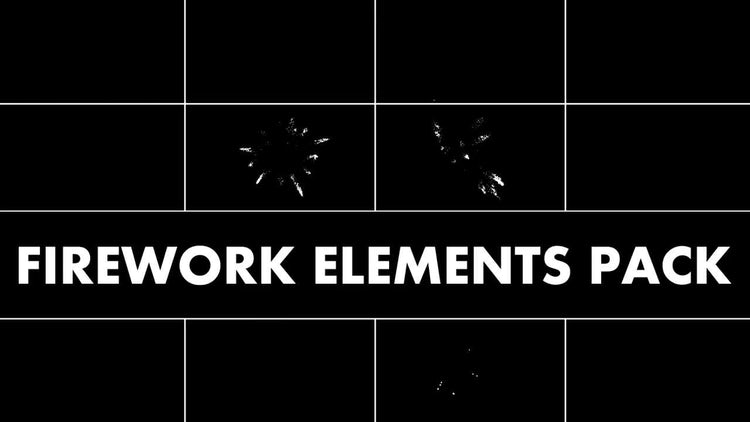Firework Elements Pack: Stock Motion Graphics
