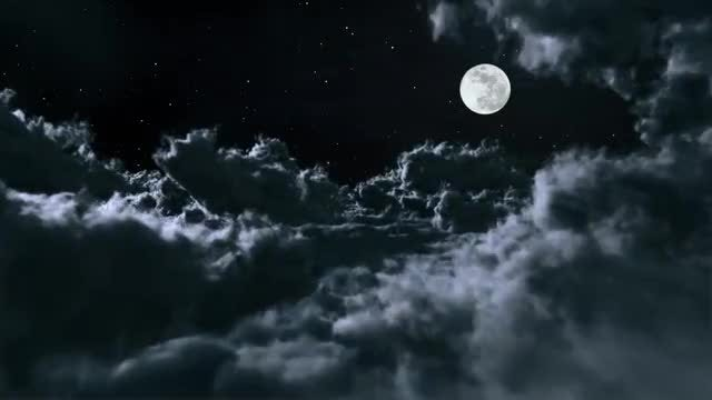 Above The Night Clouds: Stock Motion Graphics