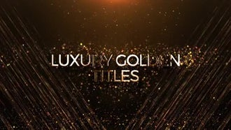 Luxury Golden Titles: After Effects Templates