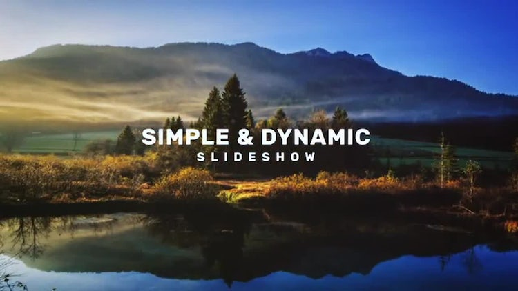 Simple and Dynamic Slideshow: After Effects Templates