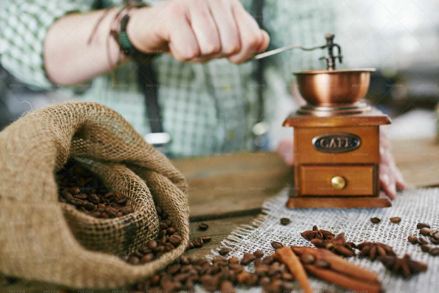 Traditional Way To Make Coffee: Stock Photos