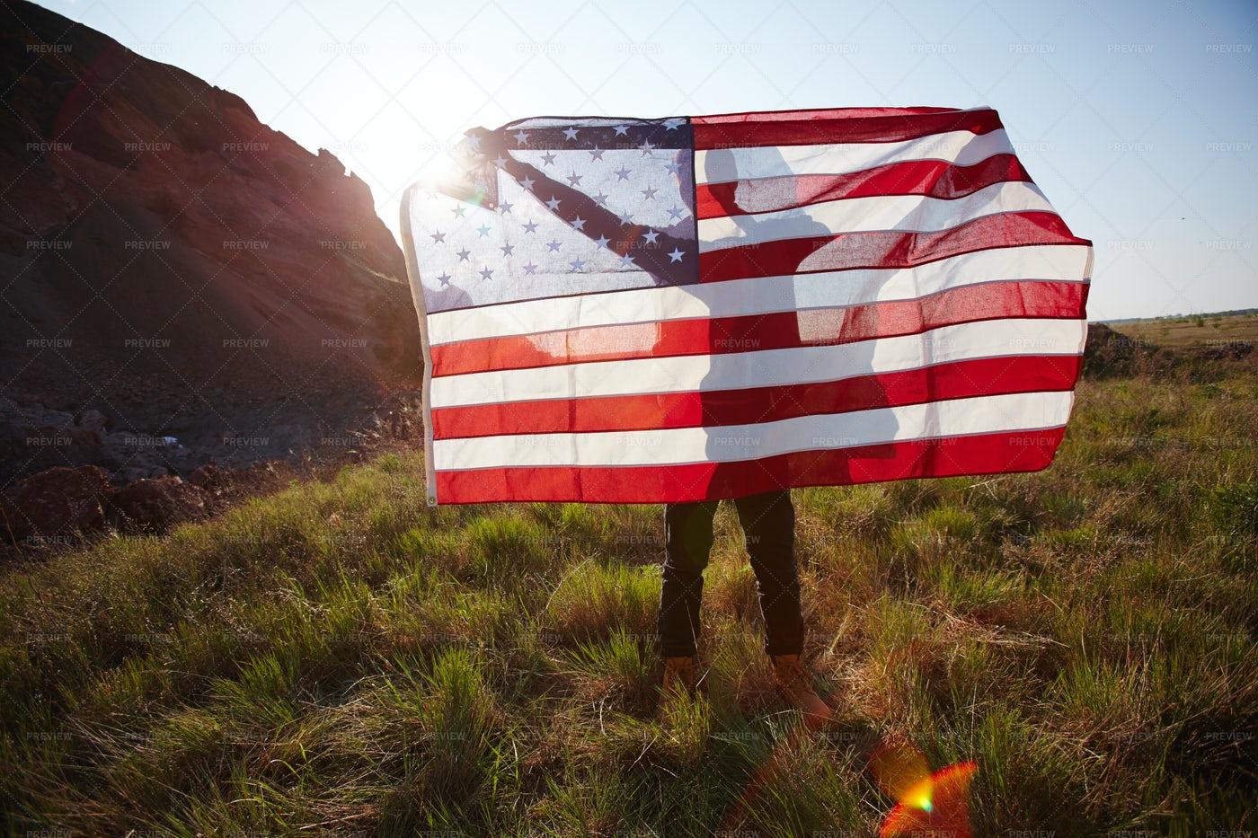 American Patriot In Nature: Stock Photos