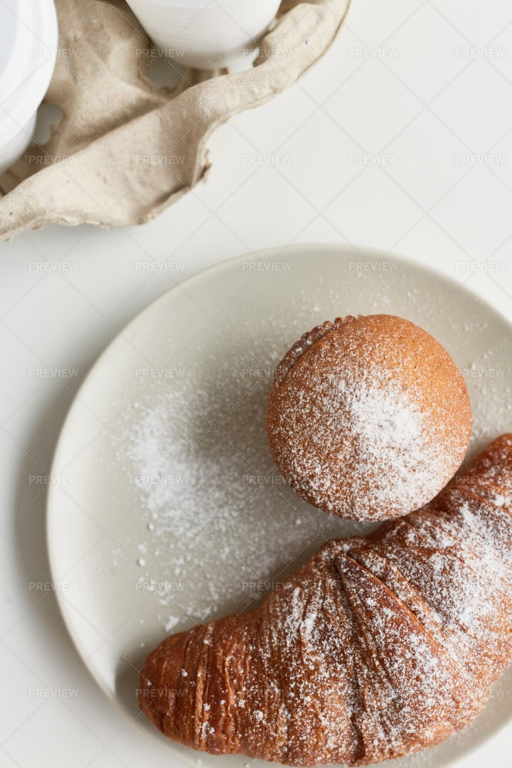 Pastry For Breakfast: Stock Photos