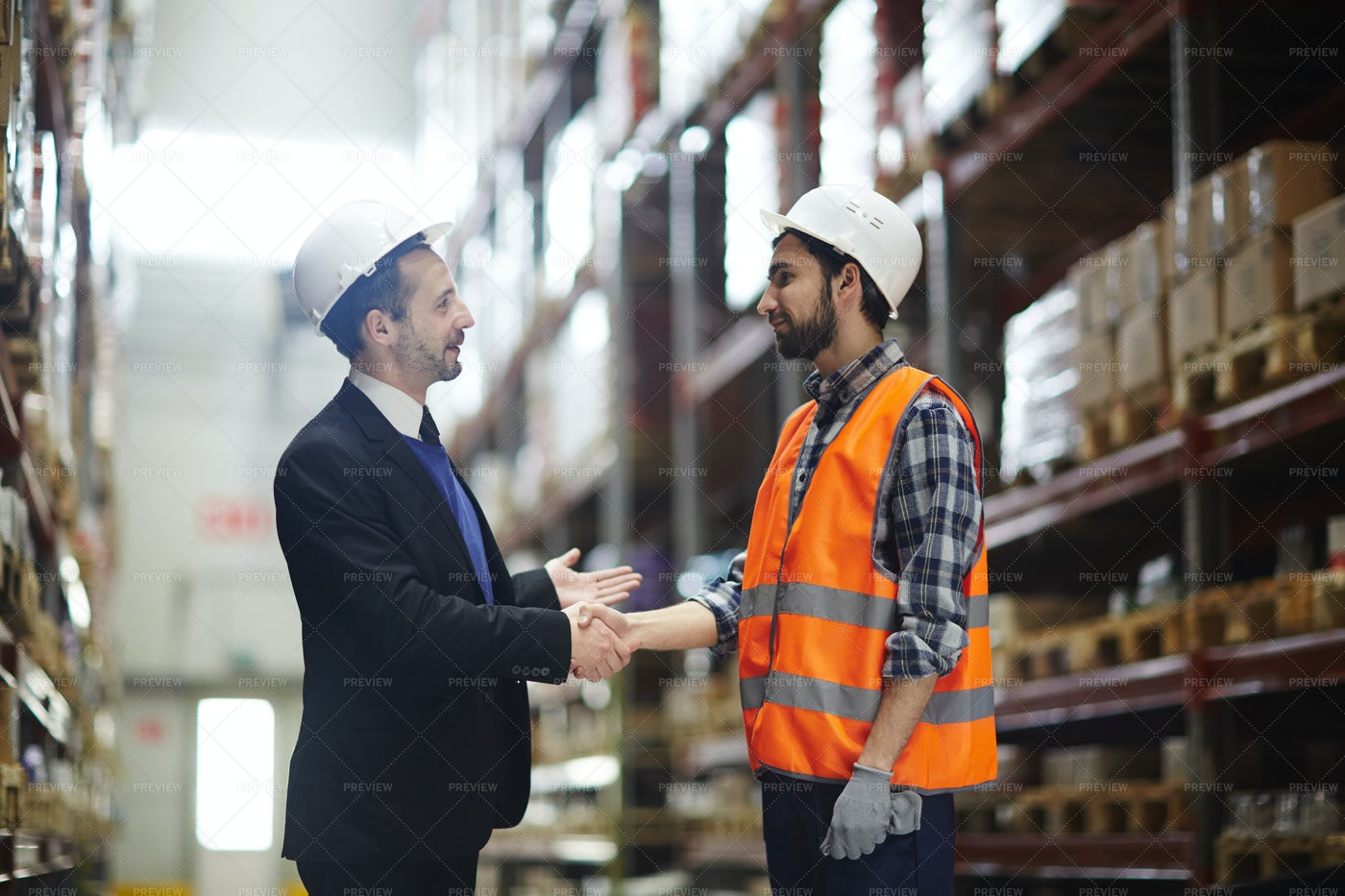 Greeting Worker: Stock Photos