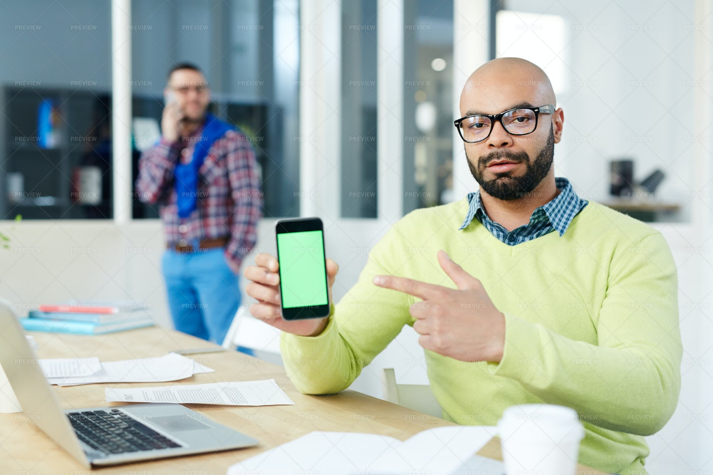 Attention To Screen: Stock Photos