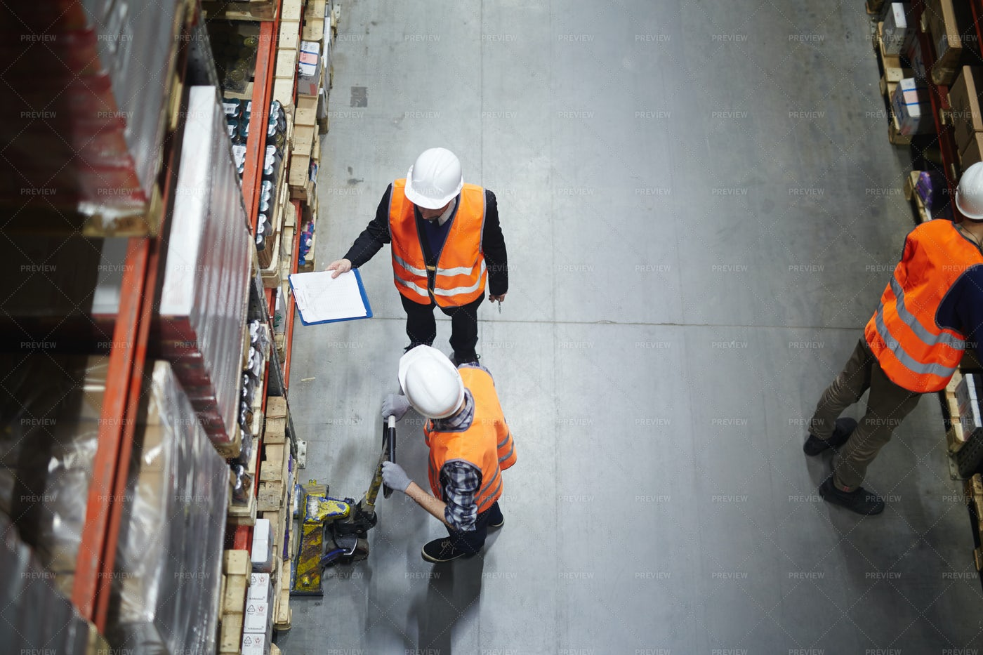 Talking To Worker: Stock Photos