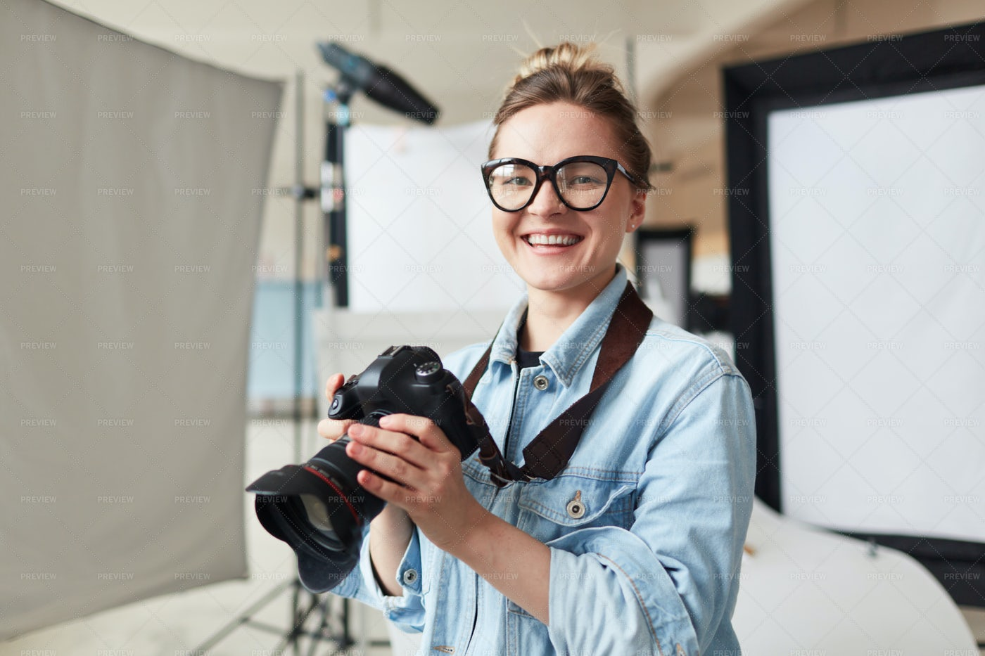 Successful Photographer: Stock Photos