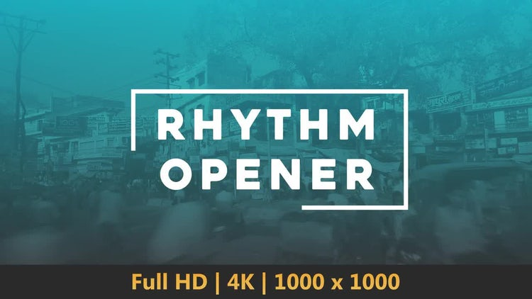 Rhythm Opener: After Effects Templates