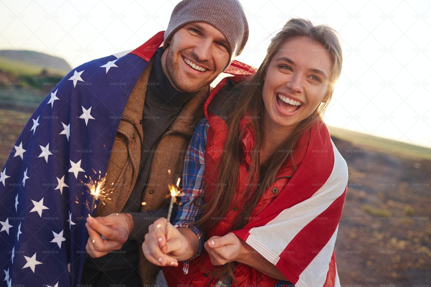 Cheerful Fashionable Couple: Stock Photos