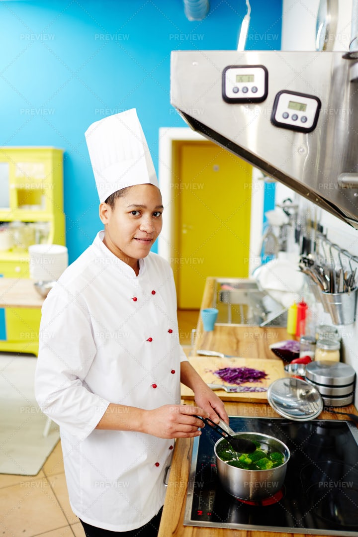 Chef By Stove: Stock Photos
