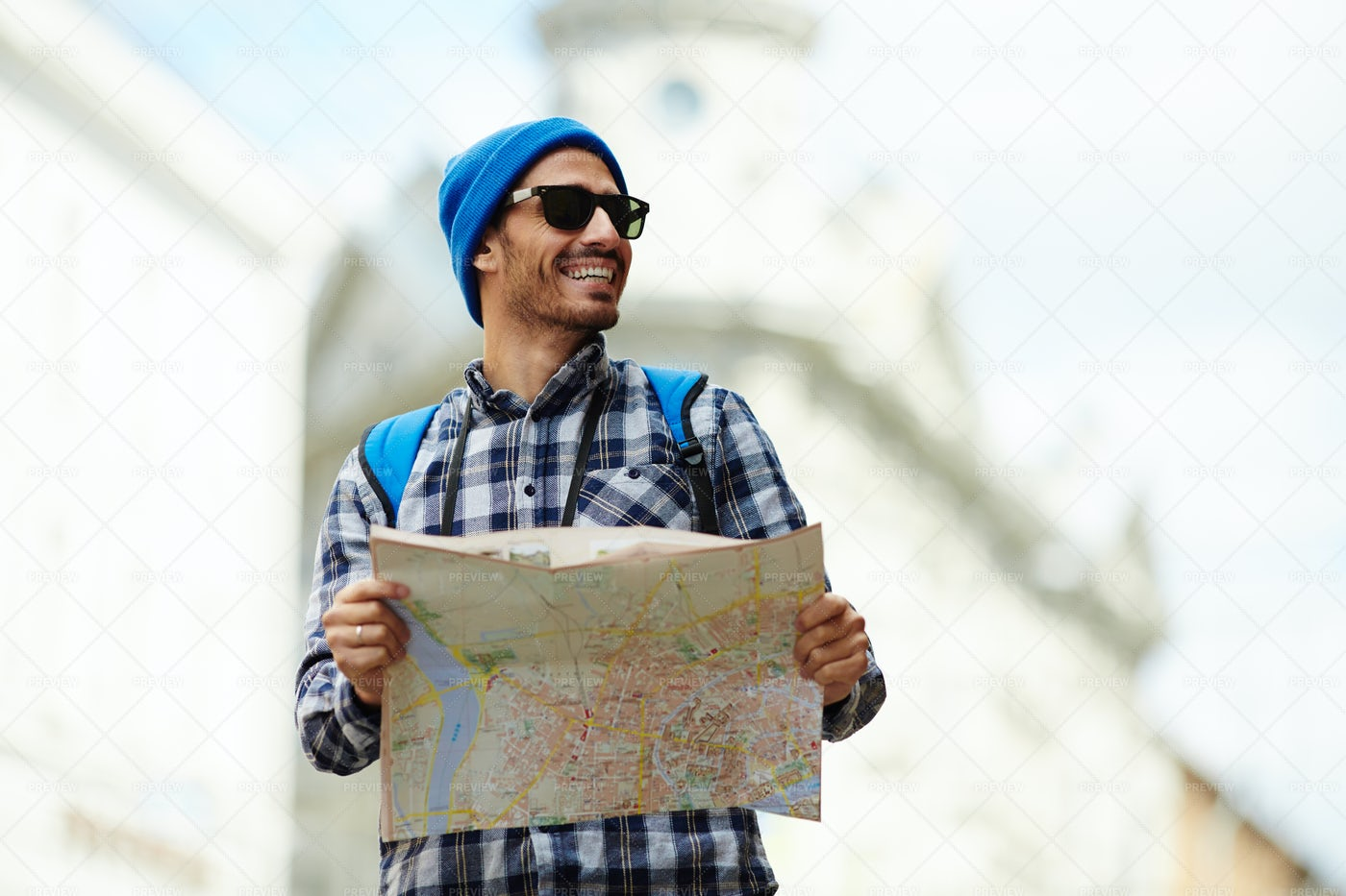 Journey With Map: Stock Photos