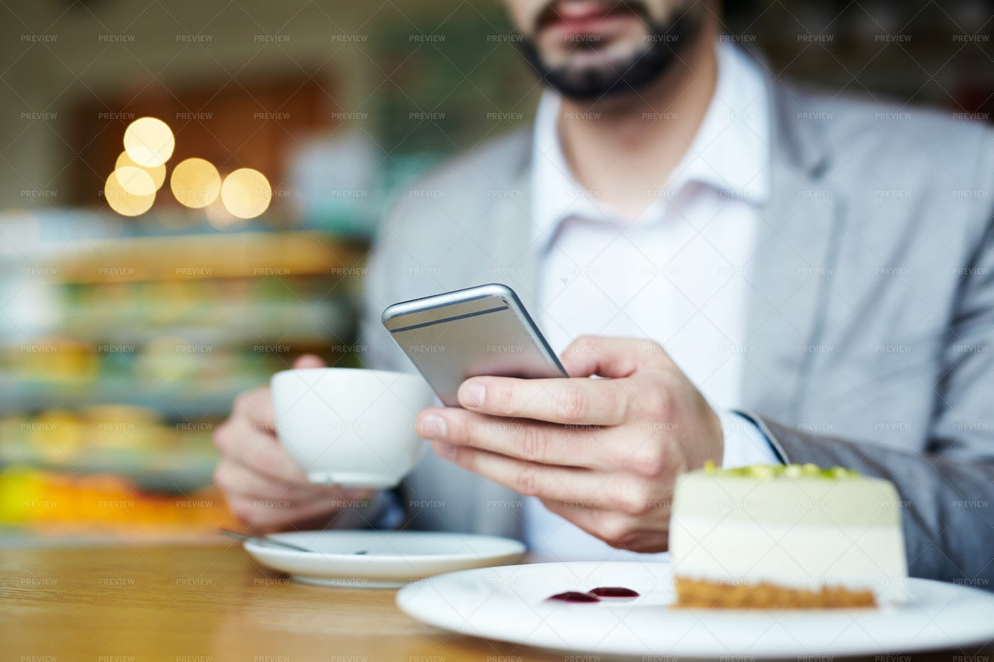 Messaging By Dessert: Stock Photos