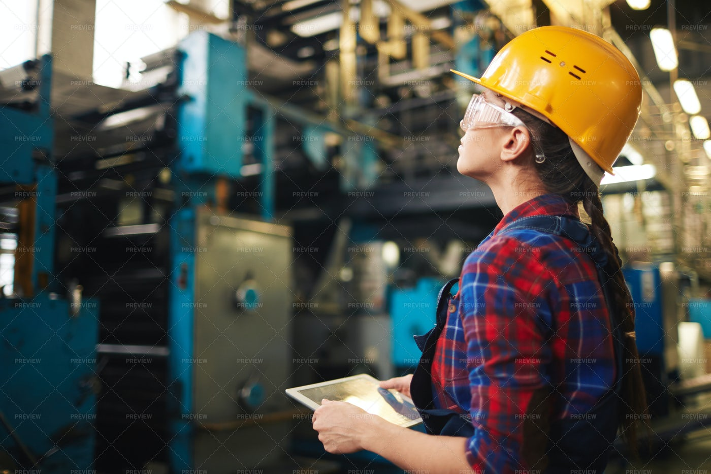 Confident Worker With Digital Tablet: Stock Photos